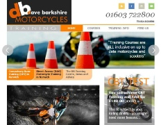 DB Motorcycle Training website